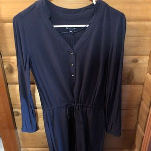Gap Dress, Navy with Gold Buttons